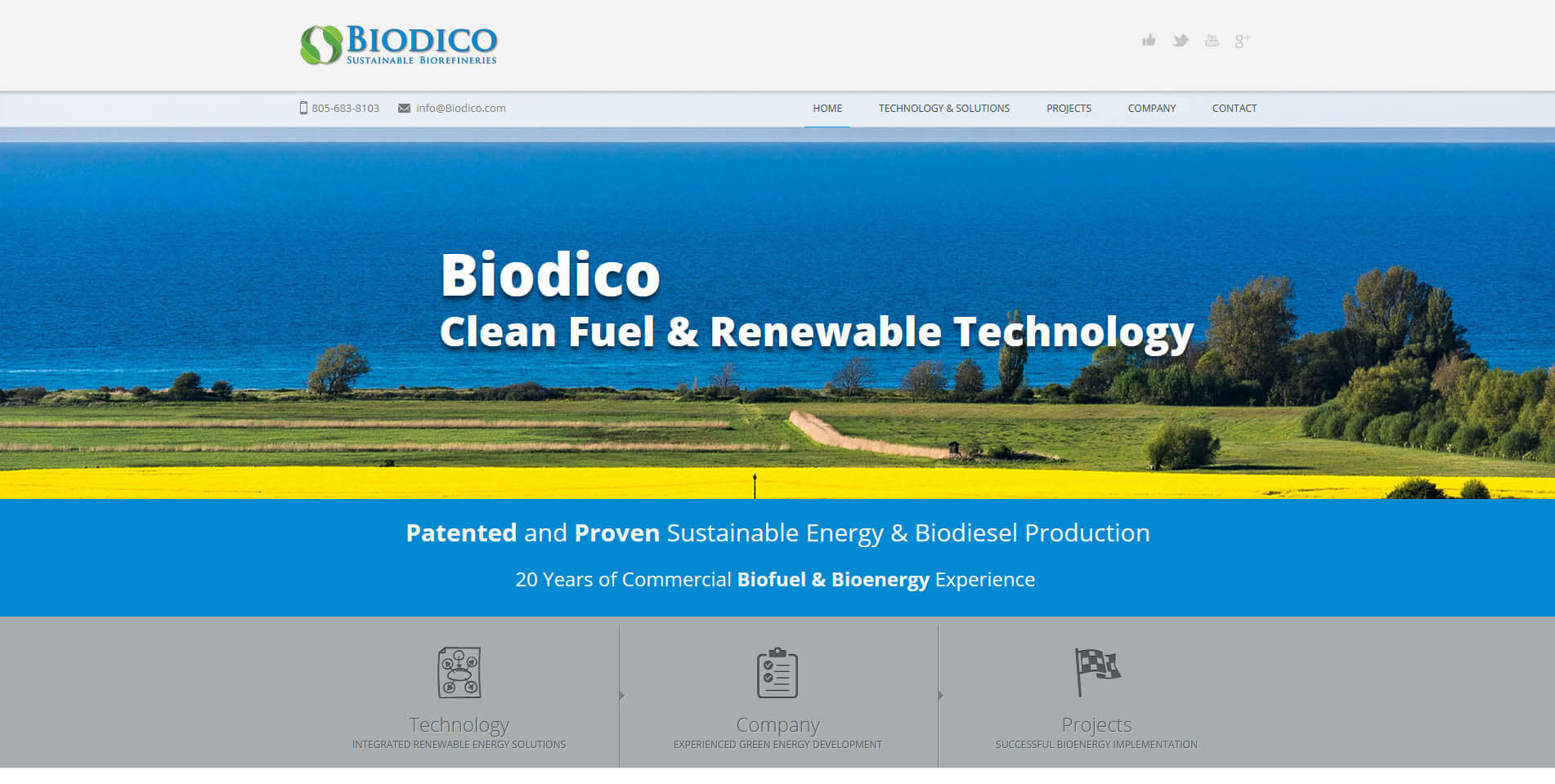 An image of the Biodico web presence built by Not Fade Away.