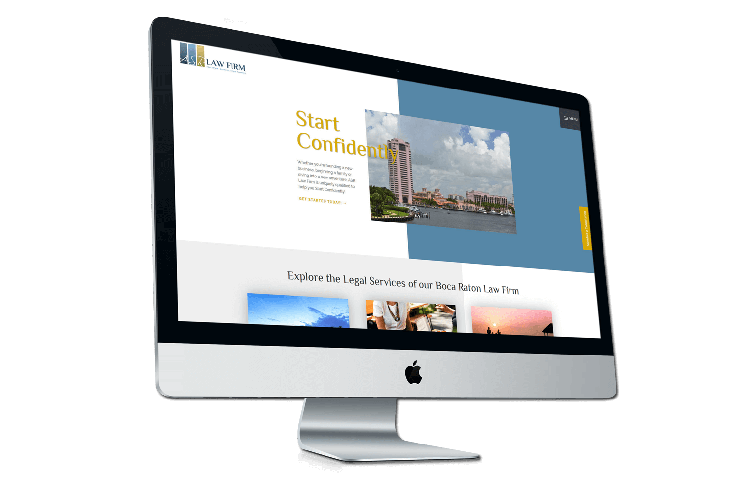 An image of the converted and redeveloped ASR Law Firm website brand.