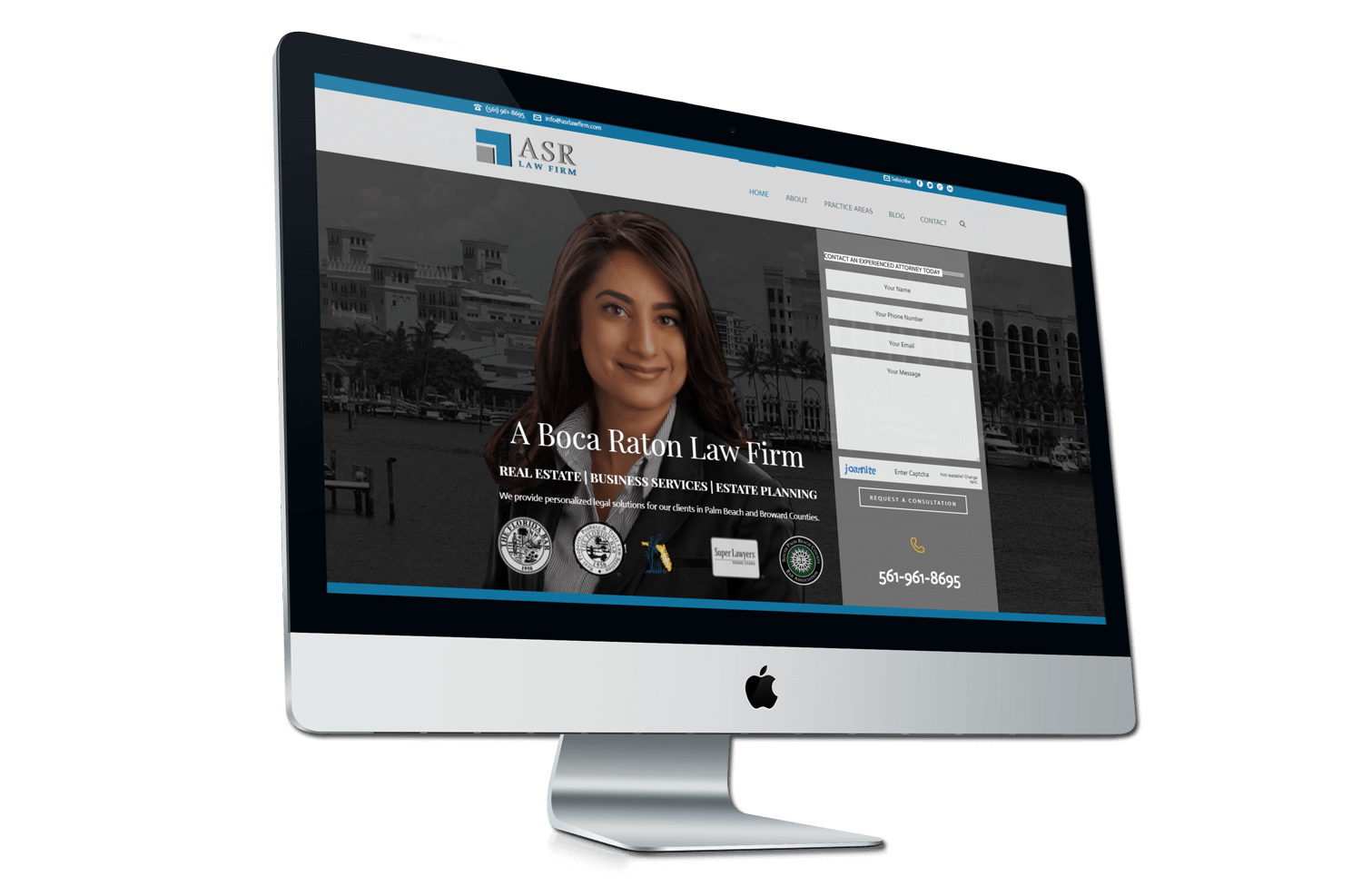 An image of the original ASR law Firm Website