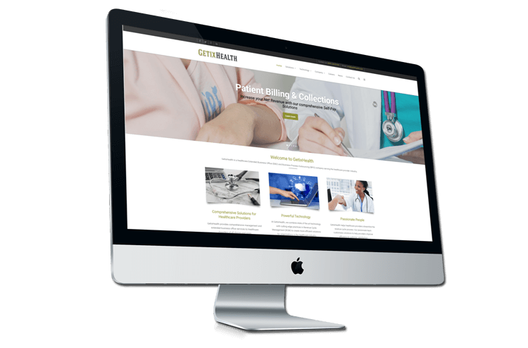 An image of the newly redesigned GetixHealth website created by Not Fade Away.