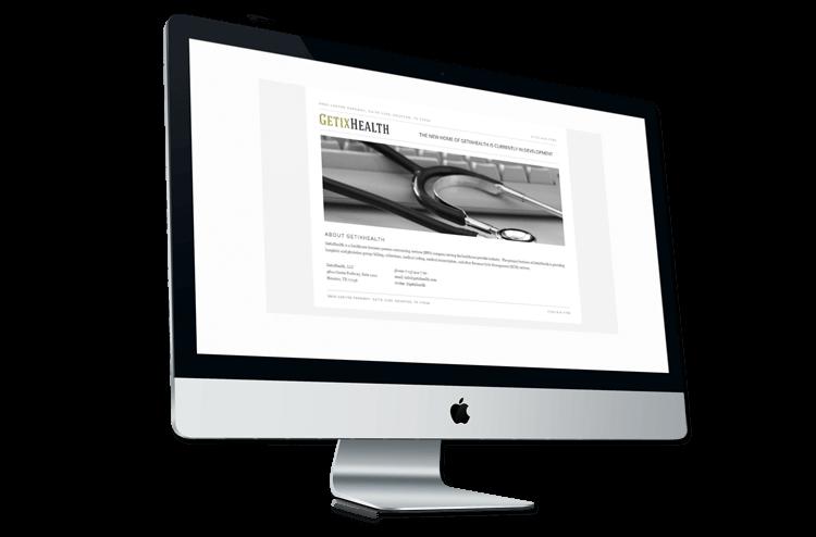 An image of the original GetixHealth website.