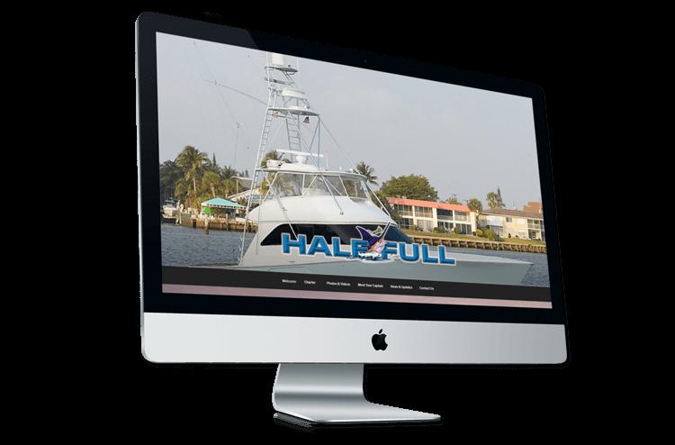 An image of the original Half Full Sportsfishing website.