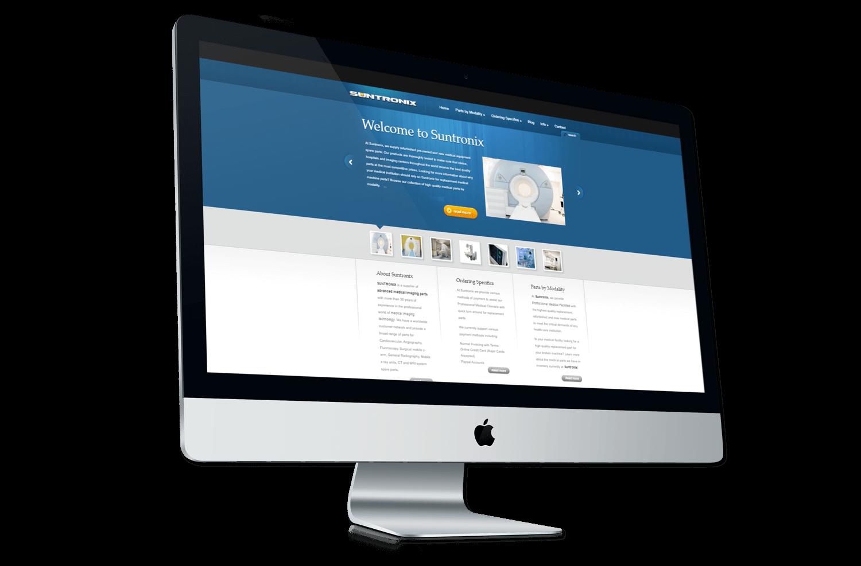 An image of the original Suntronix Medical Imaging website.