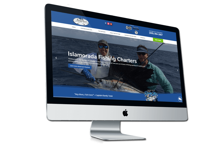 An image of the newly redesigned Captain Randy Towe website created by Not Fade Away.