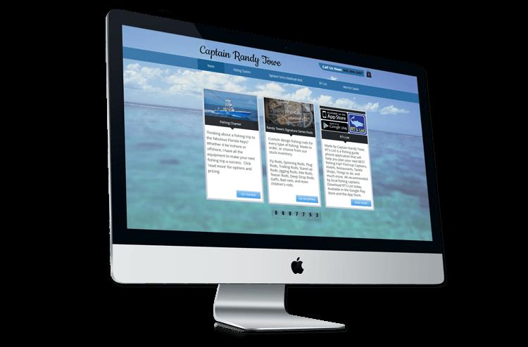 An image of the original Captain Randy Towe website.