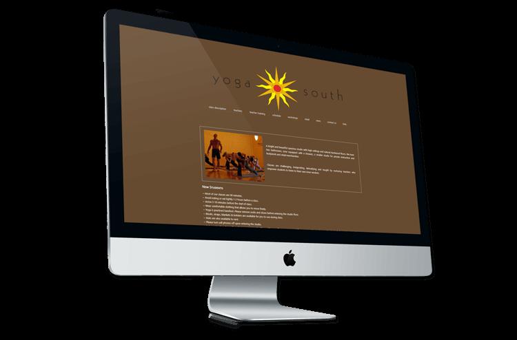 An image of the original Yoga South website.