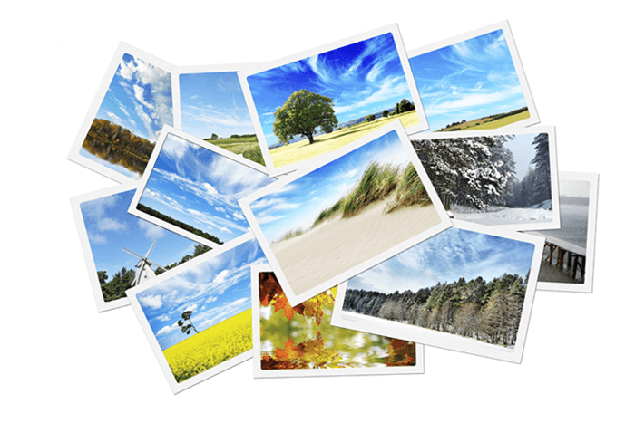 An image of a stack of photographs that make up one type of critical web content on a website.