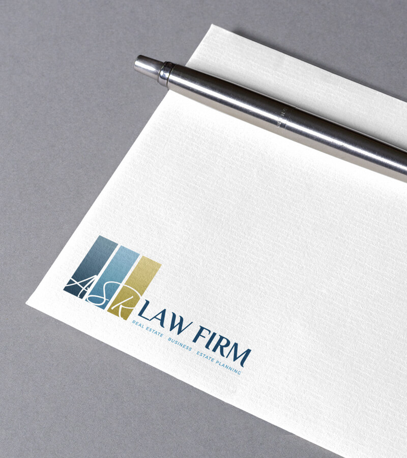 An image of a brand logo created by Not Fade Away on an envelope  as part of our graphic design solutions.