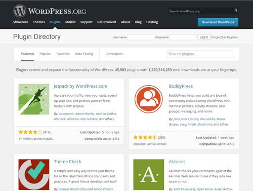 Take advantage of Powerful Plugins from WordPress.org