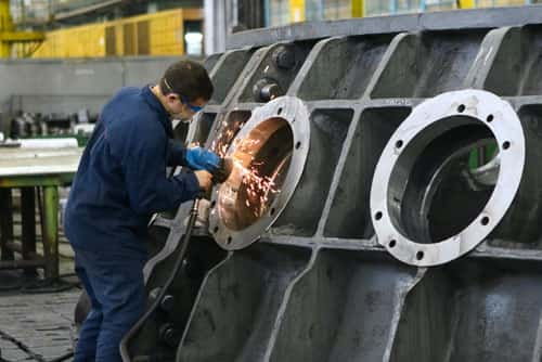 An image of a manufacturing business in action.